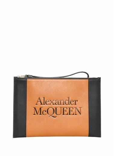 Alexander McQueen Clutch / El Çantası Kahve